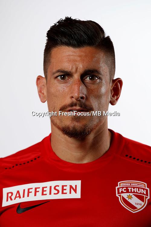 01.07.2016;Thun; Fussball Super League - FC Thun; Dennis Hediger (Thun) (Christian Pfander/freshfocus)