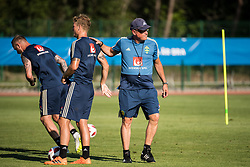 July 4, 2018 - Gelendzhik, Russia - 180704 Oscar Hiljemark and head coach Janne Andersson of the Swedish national football team at a practice session during the FIFA World Cup on July 4, 2018 in Gelendzhik..Photo: Petter Arvidson / BILDBYRN / kod PA / 92081 (Credit Image: © Petter Arvidson/Bildbyran via ZUMA Press)