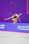 Polstjanaja Jelizaveta competing the Pesaro World Cup qualification on May 28-29, 2021. Jelizaveta is a Latvian gymnast born in 2003.