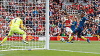 Football - 2018 / 2019 Premier League - Arsenal vs. West Ham United<br /> <br /> Aaron Ramsey (Arsenal FC) with an attempt at the West Ham goal at The Emirates.<br /> <br /> COLORSPORT/DANIEL BEARHAM