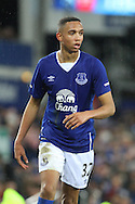 Brendan Galloway of Everton looks on. The Emirates FA cup, 3rd round match, Everton v Dagenham & Redbridge at Goodison Park in Liverpool on Saturday 9th January 2016.<br /> pic by Chris Stading, Andrew Orchard sports photography.