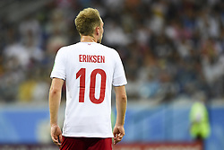July 1, 2018 - Nizhny Novgorod, Russia - Christian Eriksen of Denmark during the 2018 FIFA World Cup Round of 16 match between Croatia and Denmark at Nizhny Novgorod Stadium in Nizhny Novgorod, Russia on July 1, 2018  (Credit Image: © Andrew Surma/NurPhoto via ZUMA Press)
