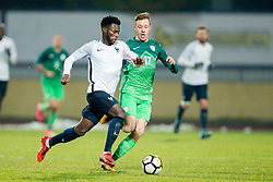 Gal Primc of Slovenia during football match between National teams of Slovenia and France in UEFA European Under-21 Championship Qualification, on November 13, 2017 in Domzale, Slovenia. Photo by Vid Ponikvar / Sportida