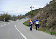 """People wait the """"19th Korrika"""" in Kadreita on March 26, 2015, Basque Country. The """"19th Korrika"""" is a relay of hand to hand baton passing without interruption over 11 days and 10 nights crossing many Basque villages and cities, totalling some 2300 kilometres in a bid to promote the basque language.The """"Korrika"""" this year end in Bilbao on March 29. (Ander Gillenea / Bostok Photo)"""