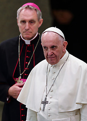 September 4, 2017 - Vatican City State (Holy See) - POPE FRANCIS during the audience to the members of the Catholic Community  ''Shalom'' in Paolo VI hall at the Vatican  (Credit Image: © Evandro Inetti via ZUMA Wire)