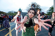 """27/10/2013 Galway was spooked and scared last night as the Macnas parade, """"On the Night Journey"""" thrilled thousands in Galway city . Photograph: Andrew Downes ."""