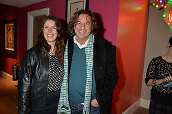 A party to celebrate the publication of renowned international fashion designer and icon Collette Dinnigan's book Obsessive Creative was held at the Ham Yard Hotel, One Ham Yard, London on 16th February 2015.<br /> Picture Shows:-ANDY HARRIS and KATIE MILLARD.