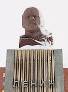 Statue of Lenin in Barentsberg, a Russian mining town in Spitsbergen. Spitsbergen is the largest island of the arctic archipelago Svalbard, of Norway