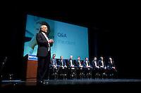 BBVA Compass Bank executives speak at the Wortham Center in Houston