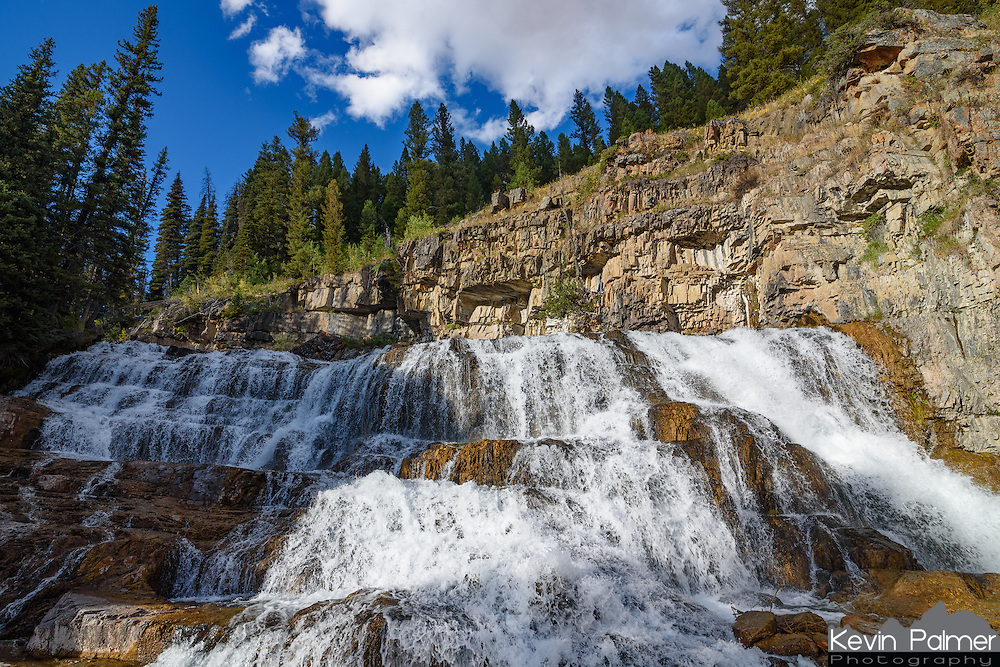 Granite Falls is a scenic waterfall next to Granite Creek Campground in the Gros Ventre Mountains.