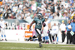 Philadelphia Eagles defensive back David Sims (21) during the NFL game between the Detroit Lions and the Philadelphia Eagles on Sunday, October 14th 2012 in Philadelphia. The Lions won 26-23 in Overtime. (Photo by Brian Garfinkel)