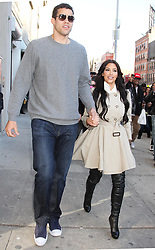 SANTIAGO AND LISVETT BAEZ/©2011 RAMEY PHOTO 310-828-3445<br /> <br /> New York, March 27, 2011<br /> KIM KARDASHIAN and her boyfriend, KRIS HUMPHRIES out and about in the Meatpack District.<br /> <br /> PGsb68<br />  (Mega Agency TagID: MEGAR65061_10.jpg) [Photo via Mega Agency]