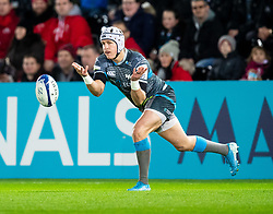 Hanno Dirksen of Ospreys<br /> <br /> Photographer Simon King/Replay Images<br /> <br /> European Rugby Champions Cup Round 1 - Ospreys v Munster - Saturday 16th November 2019 - Liberty Stadium - Swansea<br /> <br /> World Copyright © Replay Images . All rights reserved. info@replayimages.co.uk - http://replayimages.co.uk