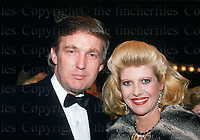 Donald Trump and his Czech wife Ivana seen in London in 1987.