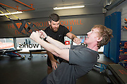 13/09/2015  Hector OhEochagain  with Darren Dillon from Kickstart at the official opening of the body works  a gym in Galway city.<br /> Photo:Andrew Downes, xposure<br /> <br /> The Body Works Galway is Galway's newest fitness studio. We are located adjacent to Parkmore in Briarhill Business park about a seven minute walk from the Parkmore Industrial Estate and Briarhill Shopping Centre.<br /> <br /> The fitness studio consists of a spinning studio at ground floor and a fitness studio at first floor where we provide classes in Kettlebells, Pilates, Yoga,TRX, Body Pump and Circuits . We have 16 spinning bikes (cardio machines) in our spinning studio.