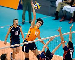 18-05-2008 VOLLEYBAL: EK KWALIFICATIE NEDERLAND - SLOVENIE: ROTTERDAM<br /> Nederland wint ook de laatste wedstrijd met 3-0 - Wytze Kooistra<br /> ©2008-WWW.FOTOHOOGENDOORN.NL