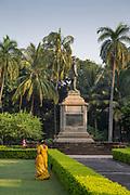 Astonishing view of gardens of The Chhatrapati Shivaji Maharaj Vastu Sangrahalaya, formerly Prince of Wales Museum of Western India, Mumbai, India