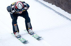Jernej Damjan of Slovenia competes during Trial round of the FIS Ski Jumping World Cup event of the 58th Four Hills ski jumping tournament, on January 5, 2010 in Bischofshofen, Austria. (Photo by Vid Ponikvar / Sportida)