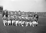Neg no: A625/1954-1958..17031958IPHCF.17.03.1958...Interprovincial Railway Cup Hurling Championship - Final..Munster.03-07.Leinster.03-05..Munster. ..M. Cashman (Cork), J. Finn (Tipperary), J. Lyons (Cork), J. Barron (Waterford), T. McGarry (Limerick), M. á.Subs: M. Maher (Tipperary) for Finn, T. Cheasty (Waterford) for Moloney. . ..Munster. .L. Power (Cork), J. O'Shea, T. Lyons (Kerry), P. Driscoll, P. Harrington (Cork), T. Cunningham (Waterford), D. Murray (Cork), M. O'Connell (Kerry), S. Moore, N. Fitzgerald (Cork), J. Dowling (Kerry), E. Ryan (Cork), P. Sheehy, M. Murphy (Kerry), D. Kelleher (Cork). .