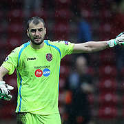 CFR Cluj's goalkeeper Mario Felgueiras during their UEFA Champions League Group H matchday 3 soccer match Galatasaray between CFR Cluj at the TT Arena Ali Sami Yen Spor Kompleksi in Istanbul, Turkey on Tuesday 23 October 2012. Photo by Aykut AKICI/TURKPIX