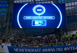 July 1, 2018 - Nizhny Novgorod, Russia - VAR (video assistant referee) during the 2018 FIFA World Cup Russia Round of 16 match between Croatia and Denmark at Nizhny Novgorod Stadium on July 1, 2018 in Nizhny Novgorod, Russia. (Credit Image: © Foto Olimpik/NurPhoto via ZUMA Press)