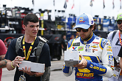 June 1, 2018 - Long Pond, Pennsylvania, United States of America - Chase Elliott (9) signs some autographs for fans prior to practice for the Pocono 400 at Pocono Raceway in Long Pond, Pennsylvania. (Credit Image: © Justin R. Noe Asp Inc/ASP via ZUMA Wire)