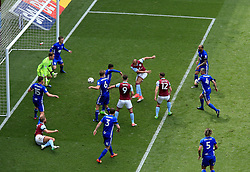 23 April 2017 - EFL Championship Football - Aston Villa v Birmingham City - Gabby Agbonlahor of Aston Villa scores the opening goal for his side (1-0) - Photo: Paul Roberts / Offside