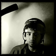 Ice Men Cometh… Kerem Islami, 19, Turkey..An iPhone portrait series on young men competing in the 2012 IIHF Ice Hockey World Championships Division 3. The tournament  was contested by countries New Zealand, Iceland, China, Bulgaria and Turkey at Dunedin Ice Stadium. Dunedin, Otago, New Zealand. 17th January 2012. Photo Tim Clayton