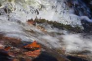 Cornwall, New York  - Ice forms on rocks as Baby Brook flows down Schunnemunk Mountain on Jan. 1, 2015.