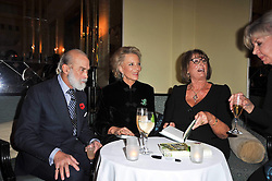 Left to right, PRINCE & PRINCESS MICHAEL OF KENT and LADY ANNABEL GOLDSMITH at a party to celebrate the publiction of 'No Invitation Required' by Annabel Goldsmith, held at Claridge's, Brook Street, London on 11th November 2009.