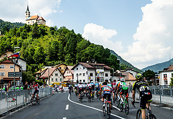 Riders in Idrija during 3rd Stage of 26th Tour of Slovenia 2019 cycling race between Zalec and Idrija (169,8 km), on June 21, 2019 in Slovenia. Photo by Vid Ponikvar / Sportida