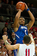 DALLAS, TX - FEBRUARY 01: Chris Crawford #3 of the Memphis Tigers shoots the ball against the SMU Mustangs on February 1, 2014 at Moody Coliseum in Dallas, Texas.  (Photo by Cooper Neill/Getty Images) *** Local Caption *** Chris Crawford