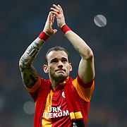 Galatasaray's Wesley Sneijder their UEFA Champions League Quarter-finals, Second leg match Galatasaray between Real Madrid at the TT Arena AliSamiYen Spor Kompleksi in Istanbul, Turkey on Tuesday 09 April 2013. Photo by Aykut AKICI/TURKPIX