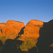 Redrock monoliths in lightly visited Kolob Canyons, Zion National Park, Utah.