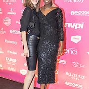 NLD/Amsterdam/201702013- Edison Pop Awards 2017, Sharon de Randamie en partner......