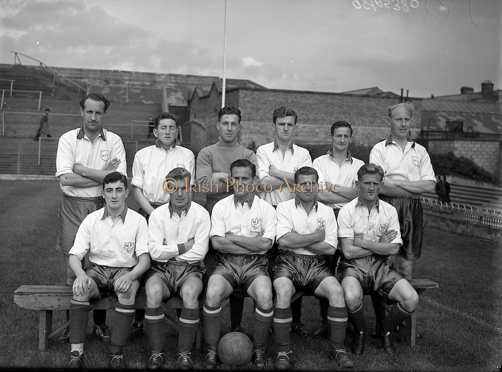 29/08/1956<br /> 08/29/1956<br /> 29 August 1956 <br /> Waterford F.C. v Drumcondra, Dublin City Cup Semi-Final at Dalymount Park, Dublin. The Waterford team.