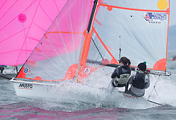 The RYA Youth National Championships came to a close today with racing in all fleets in strong winds on the Largs Channel.<br /> <br /> 2343, Bella Fellows, Anna Sturrock, Yealm YC, 29er Girl <br /> Images: Marc Turner / RYA<br /> <br /> For further information contact:<br /> <br /> Richard Aspland, <br /> RYA Racing Communications Officer (on site)<br /> E: richard.aspland@rya.org.uk<br /> m: 07469 854599