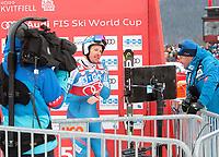 Ski , Audi FIS  SKI , World Cup , 2016/17<br /> Men´s DownHill<br /> Kvitfjell (NOR)<br /> 25.02.17<br /> Foto : Dagfinn Limoseth , Digitalsport<br />  Kjetil Jansrud , NOR  i samtale med Claus Ryste , sportsjef