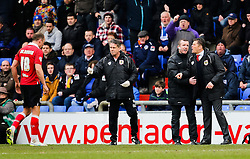 Bristol City Manager, Steve Cotterill shouts to the referee after not giving a free kick in favour of Bristol City's Aaron Wilbraham  - Photo mandatory by-line: Matt McNulty/JMP - Mobile: 07966 386802 - 03/04/2015 - SPORT - Football - Oldham - Boundary Park - Oldham Athletic v Bristol City - Sky Bet League One