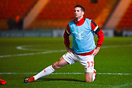 Matty Blair of Doncaster Rovers (17) warming up during the EFL Sky Bet League 1 match between Doncaster Rovers and Southend United at the Keepmoat Stadium, Doncaster, England on 12 February 2019.