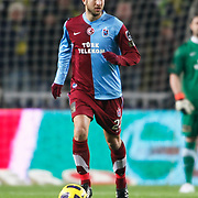 Trabzonspor's Remzi Giray KACAR during their Turkish superleague soccer derby match Fenerbahce between Trabzonspor at the Sukru Saracaoglu stadium in Istanbul Turkey on Sunday 30 January 2011. Photo by TURKPIX