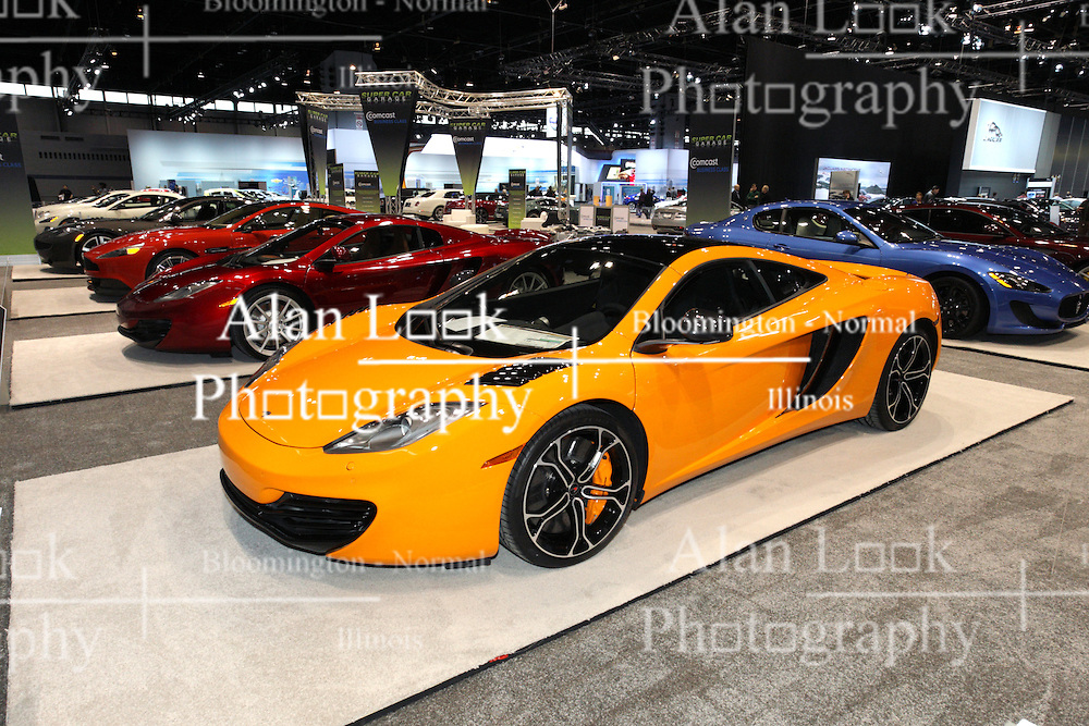 08  February 2013: Exotic Car display - McLaren 12C coupe. Chicago Auto Show, Chicago Automobile Trade Association (CATA), McCormick Place, Chicago Illinois