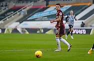 Leeds United forward Rodrigo Moreno (20) back heels the ball during the Premier League match between Newcastle United and Leeds United at St. James's Park, Newcastle, England on 26 January 2021.