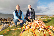 27/11/2012 Loic Trahan, Managing Director, Breizon Limited and Jason Whooley, BIM CEO in Rossaveal, Co. Galway at the launch of Breizon's Joint Venture Operation to be  based in Lorient, France. Picture:Andrew Downes