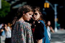Street style, models after 3.1 Phillip Lim Spring Summer 2017 show held at Skylight Clarkson North, 572 Washington Street, in New York, USA, on September 12, 2016. Photo by Marie-Paola Bertrand-Hillion/ABACAPRESS.COM / RealTime Images