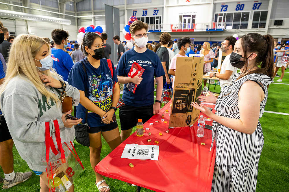 First and Second Year students attend Stampede's A Night at the Club to find campus clubs that they are interested in joining, Saturday, August 21, 2021 in the Indoor Performance Center on the SMU Campus.