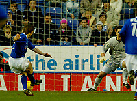 Fotball<br /> England 2004/2005<br /> Foto: BPI/Digitalsport<br /> NORWAY ONLY<br /> <br /> Leicester City v Queens Park Rangers<br /> Coca Cola Championship<br /> 03/01/2005<br /> <br /> David Connolly fires Leicester in to the lead from the penalty spot