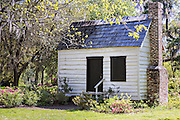 Original slave quarters at Magnolia Plantation April 10, 2014 in Charleston, SC.