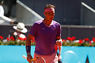 Rafael Nadal of Spain in action during his Men's Singles match, Quarter of Finals, against Alexander Zverev of Germany on the Mutua Madrid Open 2021, Masters 1000 tennis tournament on May 7, 2021 at La Caja Magica in Madrid, Spain - Photo Oscar J Barroso / Spain ProSportsImages / DPPI / ProSportsImages / DPPI