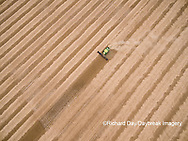 63801-09615 Soybean Harvest, John Deere combine harvesting soybeans - aerial - Marion Co. IL